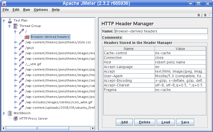 Robert Penz Blog » Mini Howto for JMeter, an open source web load