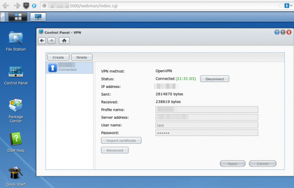 open vpn synology